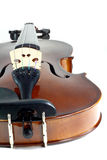Close-up violin. On white background Royalty Free Stock Photo