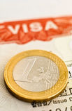 Close up or Visa and Euro. Stock Photos