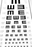 Eyesight test chart on white background close-up Royalty Free Stock Image