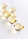 Close up of vitamins in capsules Stock Photo