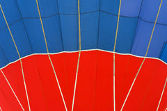 Close-up vivid pattern and texture of hot air balloon. Bright red and blue colors. Abstract background For bright Royalty Free Stock Photo