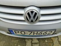 Close up of a Volkswagen Golf Plus with logo.,