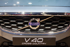 Close up Volvo V40 Cross Country at front gril Royalty Free Stock Photos