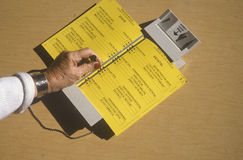 Close-up of a voting booth Stock Photography