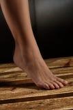 Close-up vrouwelijke lagere been en voet Stock Afbeeldingen