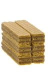 Close up wafer cookies on white Royalty Free Stock Photography