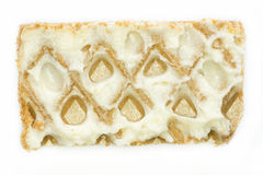 Close-up waffle with cream photo Stock Photos