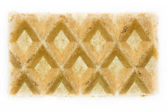Close-up waffle isolated Stock Images