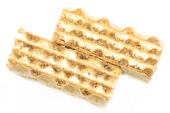 Close-up waffle photo (diagonal) Royalty Free Stock Photography