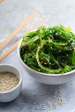 Close up of wakame. Tasty and nutritious wakame salad with sesam Royalty Free Stock Photography