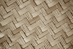 Close up wall bamboo woven pattern for background Royalty Free Stock Photography