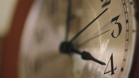 Close up of a wall clock face. stock video footage