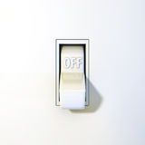Wall Switch Off Stock Photography