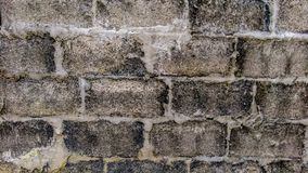Close up of wall made of vintage bricks royalty free stock photography