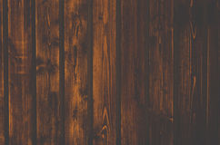 Close up of wall made of wooden planks. Royalty Free Stock Images