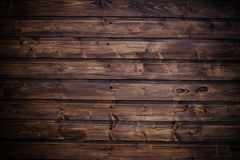 Close up of wall made of wooden planks Stock Images