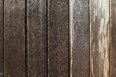 Close up of wall made of wooden planks Royalty Free Stock Image