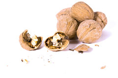 Close up on Walnuts Royalty Free Stock Photos