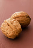 Close up of walnuts Royalty Free Stock Images