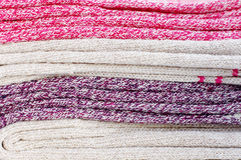 Close up of warm multicolored socks Stock Images