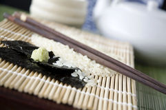 Close up wasabi with seaweed Royalty Free Stock Images