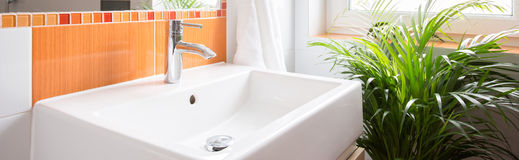 Close-up of washbasin Royalty Free Stock Photography