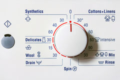 Close up washing machine dial Royalty Free Stock Photography