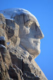 Close-up of Washington at mount Rushmore. With blue sky Royalty Free Stock Photos