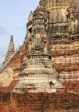 Close up Wat Chai Watthanaram. Thailand Stock Images