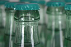 Close up from water bottle royalty free stock photography