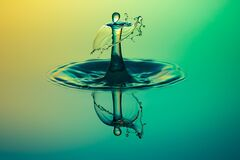 Close Up Water Drop Photography Stock Photography