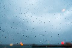 Close-up of water droplets on glass Royalty Free Stock Images