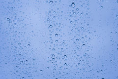 Close-up of water drops on glass Royalty Free Stock Photo