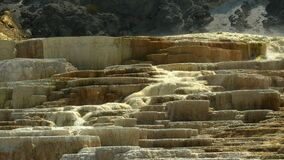 Close up of water flowing from mound spring at mammoth hot springs in yellowstone national park