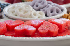 Close up of water melon. Royalty Free Stock Photo