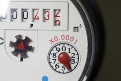 Free Close-up Water Meter Close Up In Sunny Day Stock Photos - 145290573