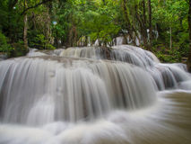Close up of water rushing, Kanjanaburi Thailand.  stock photography