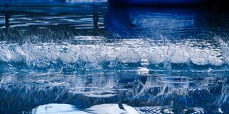 Close up of a water splash stock photo