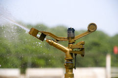 Close-up of a water sprinkler Stock Images