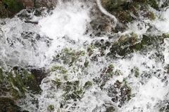 Close up of water stream Royalty Free Stock Image