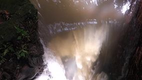 Close Up. Waterfall Than Bok Khorani National Park in Krabi province, Thailand tourist landmark stock video footage