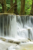 Close-up of waterfall in tropical deep forest at Huay Meakhamin Stock Image