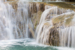 Close up waterfall in tropical rain forest Royalty Free Stock Photo