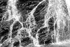 Close-up of Waterfall. A close-up of a water cascade, which may be suitable as a background or texture stock images