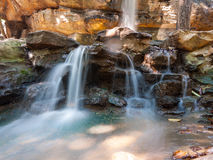 Close-up waterfalls. Photo of Close-up flowing waterfalls Royalty Free Stock Photography