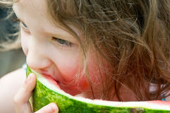 Close-up watermelon enjoyment Stock Photography