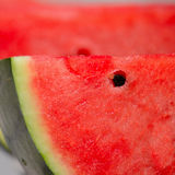 Close up of a watermelon slice Royalty Free Stock Image