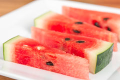 Close up of watermelon slices Stock Photos