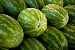 Close-Up of Watermelons Royalty Free Stock Photography