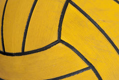 Close-up of a waterpolo ball. Close-up of a yellow waterpolo ball Stock Photography